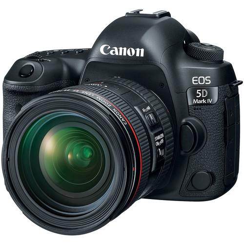 Canon EOS 5D Mark IV + EF 24-70mm F/4 L IS USM Lens [Free SanDisk ExtremePro 64GB SD Card]