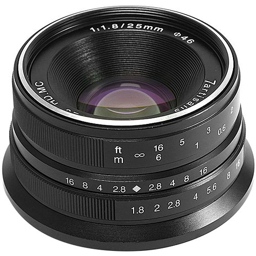 7artisans 25mm F1.8 For Micro Four Thirds (Black)