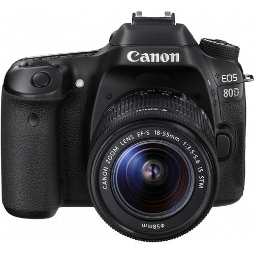 Canon EOS 80D + EF-S 18-55mm F/3.5-5.6 IS STM Lens [Free 16GB SD Card + Camera Bag]