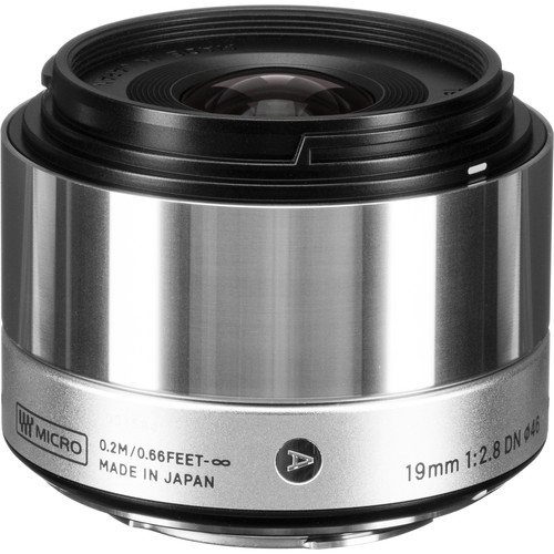 Sigma 19mm f/2.8 DN Art Lens for Micro Four Thirds (Silver)