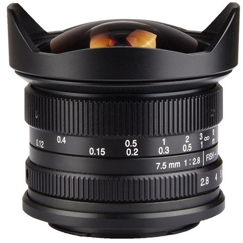 7artisans  7.5mm F2.8 Fisheye For Fujifilm X (Black)