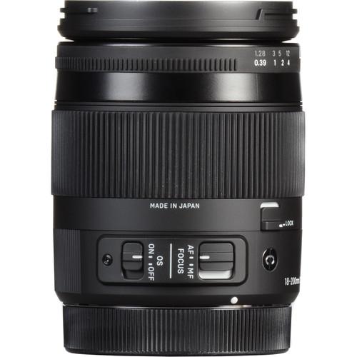 Sigma 18-200mm F3.5-6.3 DC Macro OS HSM Contemporary Lens (Canon)