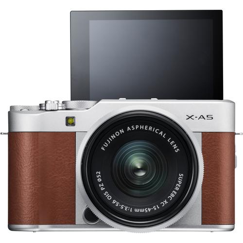 Fujifilm X-A5 + XC 15-45mm f/3.5-5.6 OIS PZ (Brown) [Free 32GB SD Card & NP-W126S Battery]
