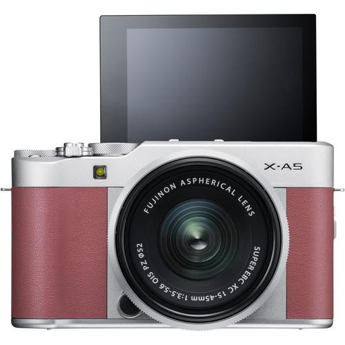 Fujifilm X-A5 + XC 15-45mm f/3.5-5.6 OIS PZ (Pink) [Free 32GB SD Card & NP-W126S Battery]