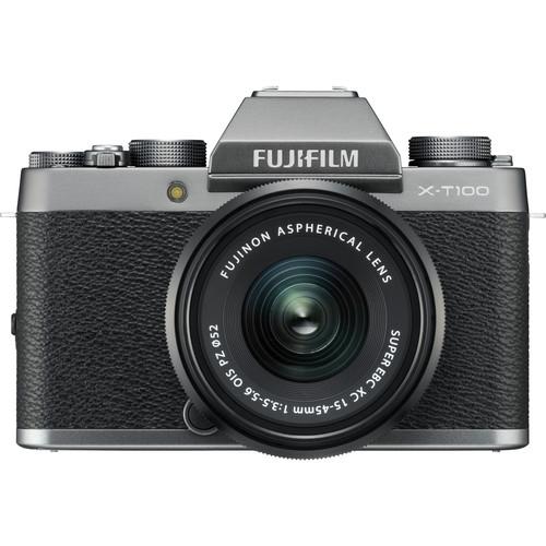 Fujifilm X-T100 + XC 15-45mm f/3.5-5.6 OIS PZ (Dark Silver) [Free 32GB SD Card & NP-W126S Battery]