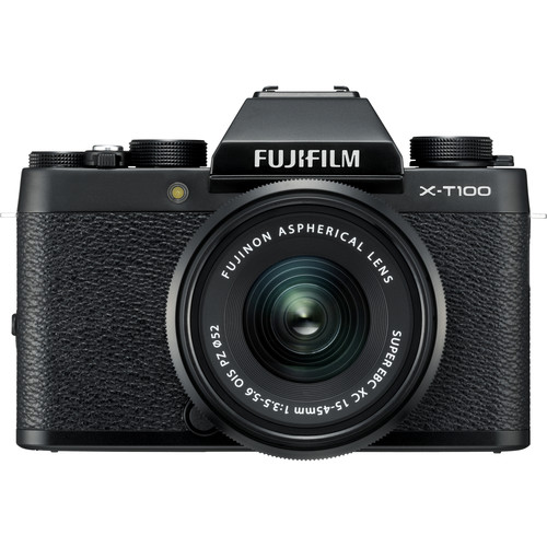 Fujifilm X-T100 + XC 15-45mm f/3.5-5.6 OIS PZ (Black) [Free 32GB SD Card & NP-W126S Battery]