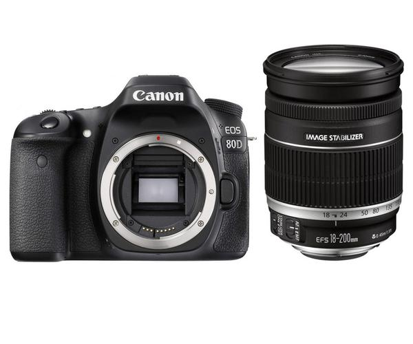 Canon EOS 80D + EF-S 18-200mm F/3.5-5.6 IS Lens [Free 16GB SD Card + Camera Bag]