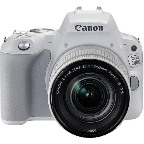 Canon EOS 200D + EF-S 18-55mm f/3.5-5.6 IS STM Lens (White) [Free 16GB SD Card + Camera Bag]