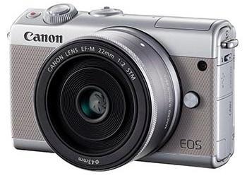 Canon EOS-M100 + EF-M 15-45mm F/3.5-6.3 IS STM + EF-M 22mm F/2 STM (Griege) [Free 16GB SD Card + Camera Bag]