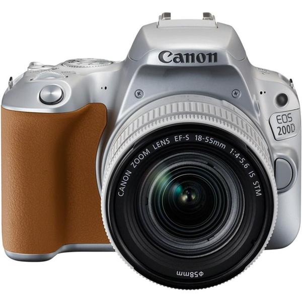 Canon EOS 200D + EF-S 18-55mm f/3.5-5.6 IS STM Lens (Silver) [Free 16GB SD Card + Camera Bag]