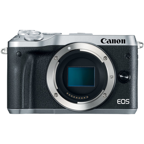 (Great Deals) Canon EOS-M6 Mirrorless Digital Camera - Body Only (Silver) [Free 16GB SD Card + Camera Bag]