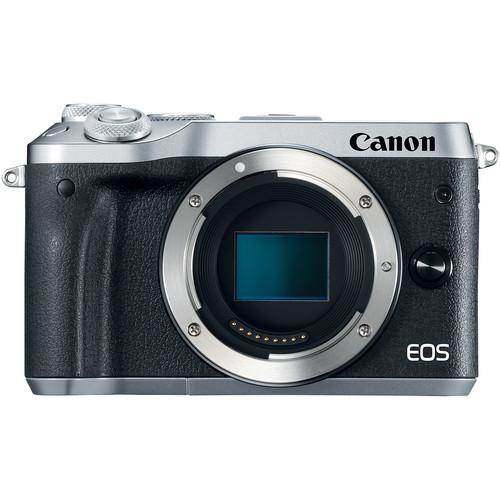 Canon EOS-M6 Mirrorless Digital Camera - Body Only (Silver) [Free 16GB SD Card + Camera Bag]