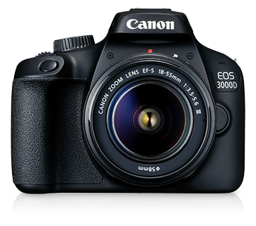 Canon EOS 3000D + EF-S 18-55 DC III Lens [Free 32GB SD Card + Camera Bag]