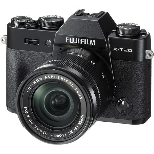 Fujifilm X-T20 (Black) + XC 16-50mm f/3.5-5.6 OIS II [Free 32GB SD Card & NP-W126S Battery)