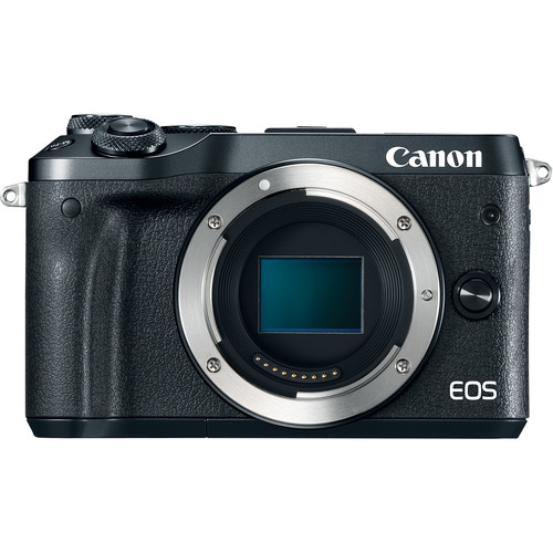 (Great Deals) Canon EOS-M6 Mirrorless Digital Camera - Body Only (Black) [Free 16GB SD Card + Camera Bag]
