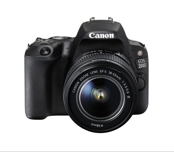 Canon EOS 200D + EF-S 18-55mm f/3.5-5.6 IS STM Lens (Black) [Free 16GB SD Card + Camera Bag]