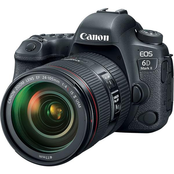 Canon EOS 6D Mark II + EF 24-105mm F/4 L IS II USM Lens [Free SanDisk ExtremePro 64GB SD Card]