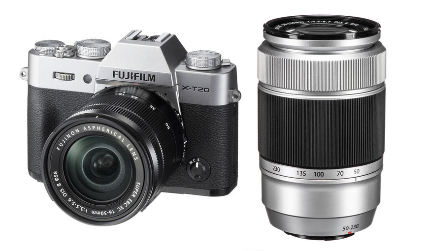 Fujifilm X-T20 (Silver) + XC 16-50mm f/3.5-5.6 OIS II + XC 50-230mm f/4.5-6.7 OIS II [Free 32GB SD Card & NP-W126S Battery)