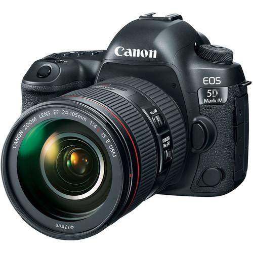 Canon EOS 5D Mark IV + EF 24-105mm F/4 L IS II USM Lens [Free SanDisk ExtremePro 64GB SD Card]