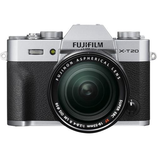Fujifilm X-T20 (Silver) + XF 18-55mm f/2.8-4R LM OIS [Free 32GB SD Card & NP-W126S Battery)