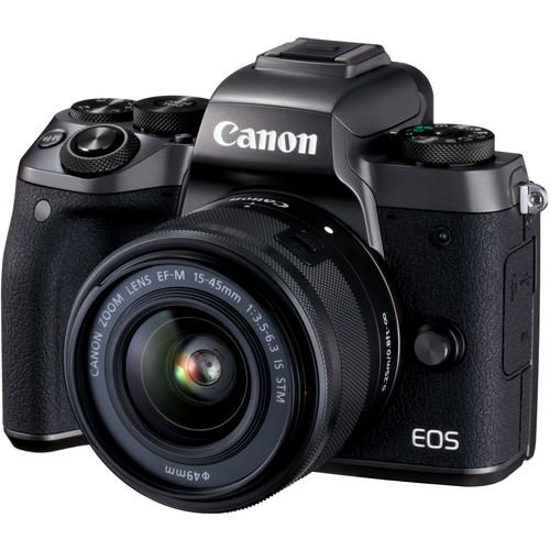 Canon EOS-M5 + EF-M 15-45mm F/3.5-6.3 IS STM [Free 16GB SD Card + Camera Bag]