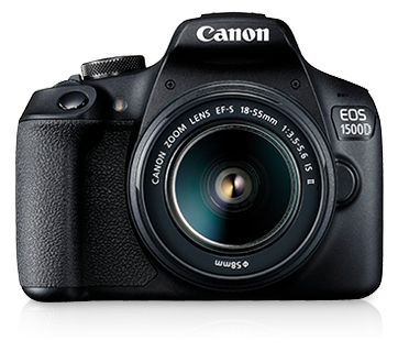 Canon EOS 1500D + EFS 18-55 IS II Lens [Free 32GB SD Card + Camera Bag]