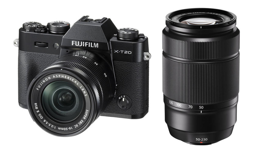 Fujifilm X-T20 (Black) + XC 16-50mm f/3.5-5.6 OIS II + XC 50-230mm f/4.5-6.7 OIS II [Free 32GB SD Card & NP-W126S Battery)