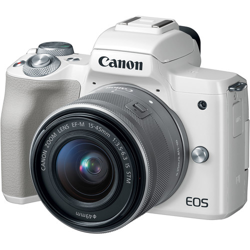 (CNY Offer) Canon EOS-M50 Mirrorless Digital Camera + EF-M 15-45mm F/3.5-6.3 IS STM (Silver) [Free 32GB SD Card + Camera Bag]