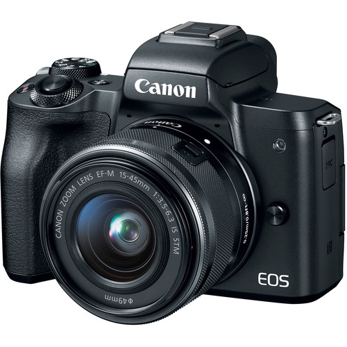 Canon EOS-M50 Mirrorless Digital Camera + EF-M 15-45mm F/3.5-6.3 IS STM (Black) [Free 32GB SD Card + Camera Bag]