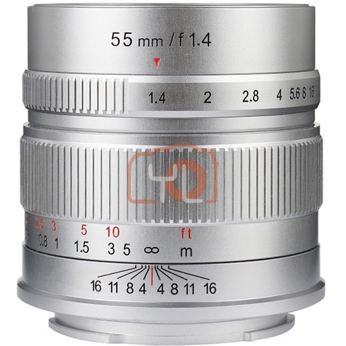 7artisans 55mm F1.4 For Canon EOS-M (Silver)