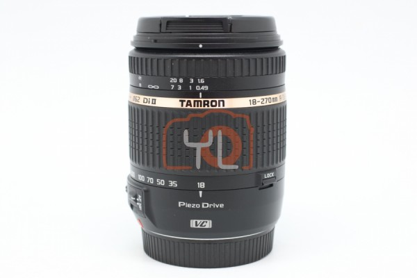 [USED-PUDU] Tamron 18-270mm F3.5-6.3 Di II VC PZD Lens For CANON 90%LIKE NEW CONDITION SN:033323