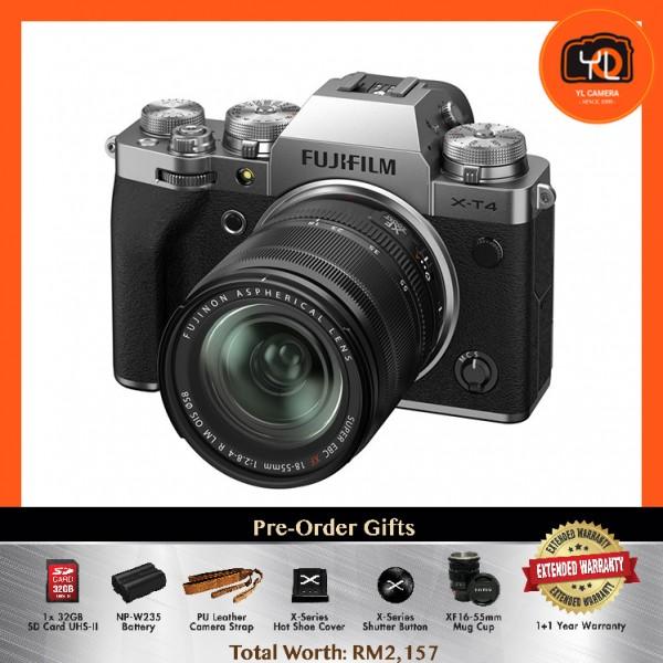 (Pre-Order) Fujifilm X-T4 + XF 18-55mm f/2.8-4R LM OIS - Silver