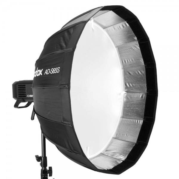 Godox AD-S65S 65cm Parabolic Deep Softbox Hexadecagon Quick Collapsible Umbrella Softbox for Godox AD400Pro