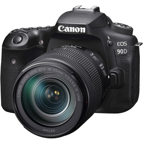 Canon EOS 90D + EF-S 18-135mm F3.5-5.6 IS USM (Free 32GB SD Card + Camera Bag)