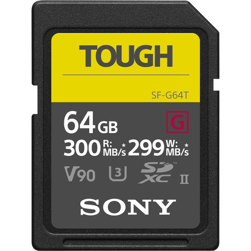 Sony 64GB SF-G Tough Series UHS-II SDHC Memory Card