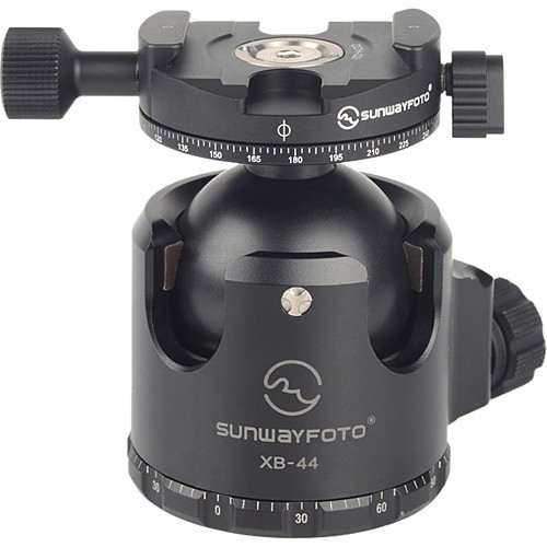 Sunwayfoto XB-44DDHi Superior Low-Profile Ball Head with Panning Clamp