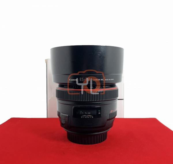 [USED-PJ33] Canon 50mm F1.2 L USM EF, 85% Like New Condition (S/N:2079229)