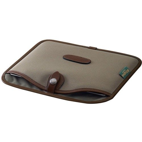 (SPECIAL DEAL) Billingham Tablet Slip (Sage FibreNyte & Chocolate Leather Trim)