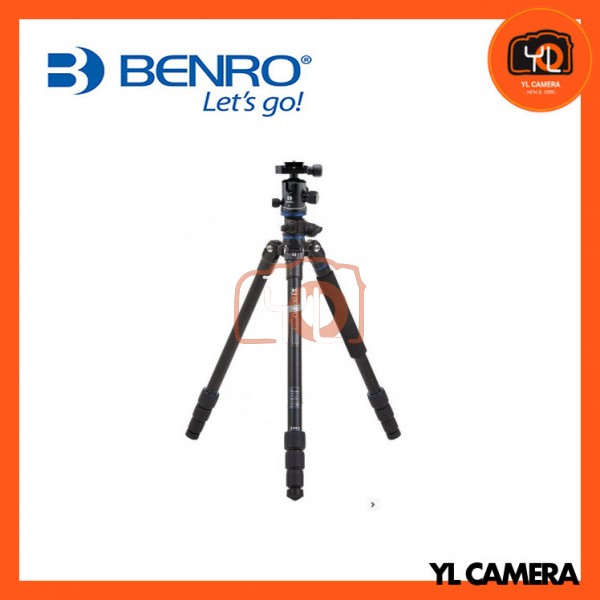 Benro FGP18AB1 Go Plus 4-Section Aluminum Travel Tripod With Ball Head Kit