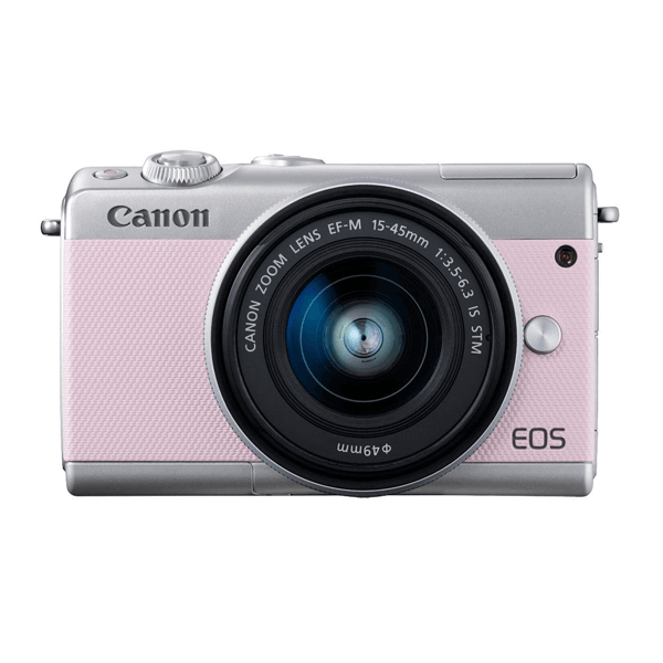 (Great Deals) Canon EOS-M100 + EF-M 15-45mm F/3.5-6.3 IS STM (Pink) [Free 16GB SD Card + Camera Bag]