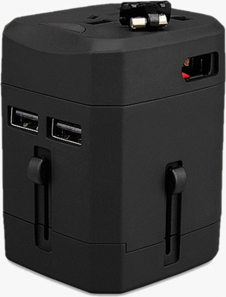 Wontravel JY-163 Dual USB 2.5A Newest Model Outlet Charger Electrical US UK EU AU Plug Travel Adapter