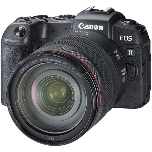 Canon EOS RP + RF 24-105mm F4 L IS USM [Free EF-EOS R Lens Mount Adapter + SanDisk ExtremePRO 64GB SD Card]