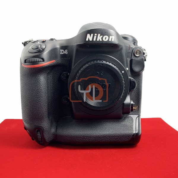 [USED-PJ33] Nikon D4 Body (Shutter Count : 218K), 80% Like New Condition (S/N:2001491)