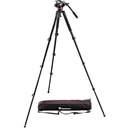 Manfrotto MVK502AQ Spreaderless Video Tripod with MVH502A Fluid Head