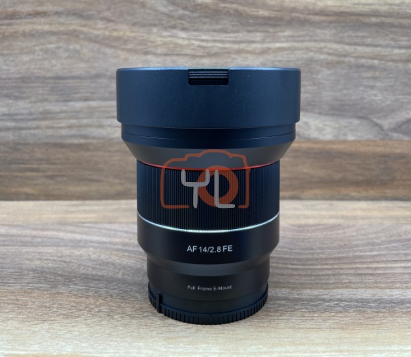 [USED @ YL LOW YAT]-Samyang AF 14mm F2.8 FE Lens For Sony E-mount,90% Condition Like New,S/N:CIP23524