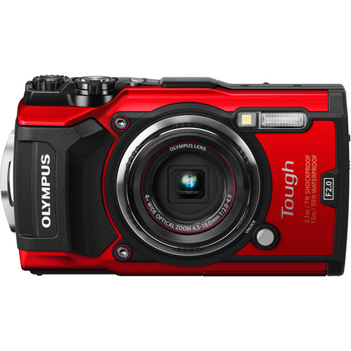 Olympus TG-5 Tough Compact Camera (Red)