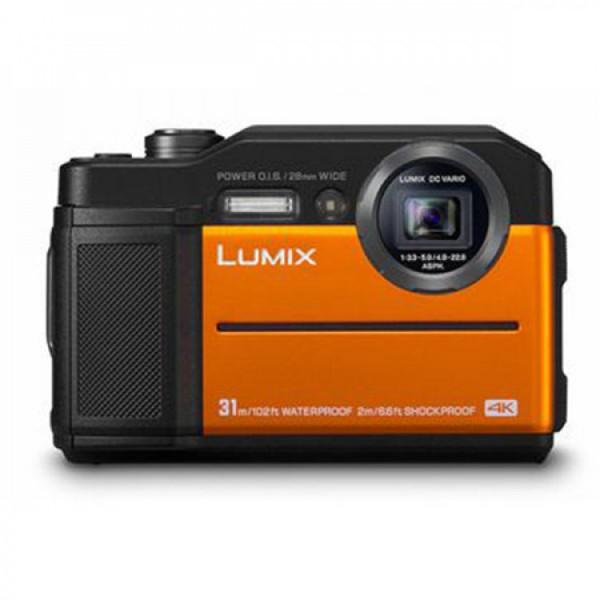 Panasonic Lumix DC-FT7 4K Tough Compact Camera (Orange) [Free 16GB SD Card]