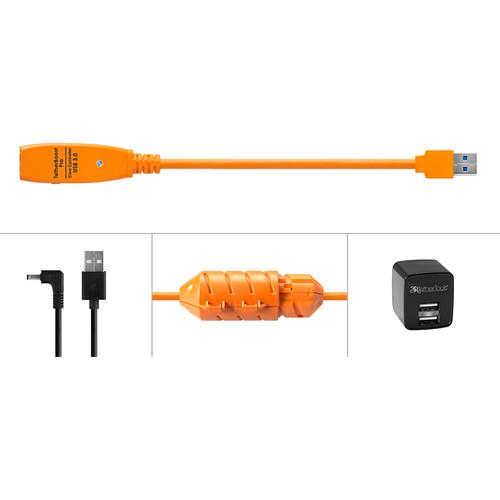 Tether Tools TBPRO-ORG-US TetherBoost Pro USB 3.0 Core Controller (North American Plug, Orange)