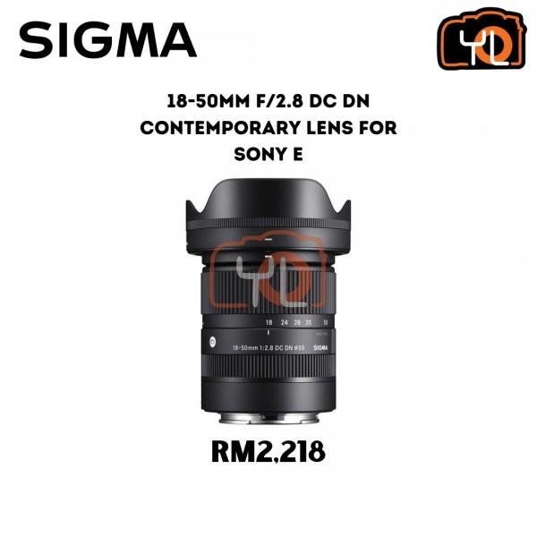 Sigma 18-50mm f2.8 DC DN Contemporary Lens for Sony E
