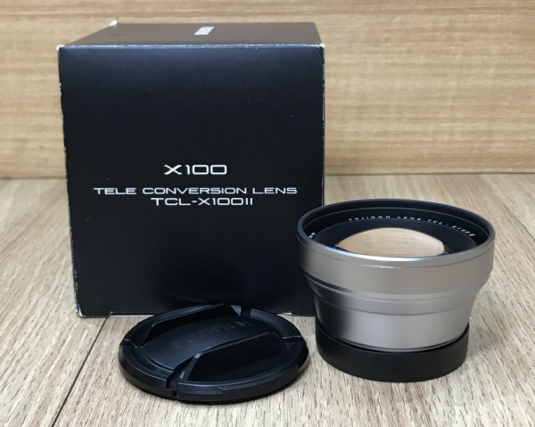 [USED @ YL LOW YAT]-Fujifilm TCL-X100 II Tele Conversion Lens [ Silver ],95% Condition Like New